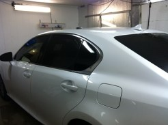 Lexus White After Mobile Tinting