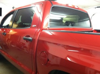 Red Crew Max Before Specialty Window Tinting
