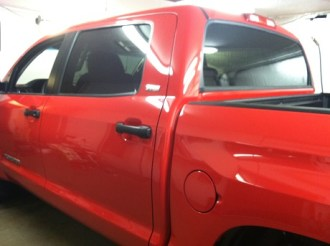 Red Truck Before Tint