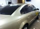 Gold Passat After Car Window Tinting