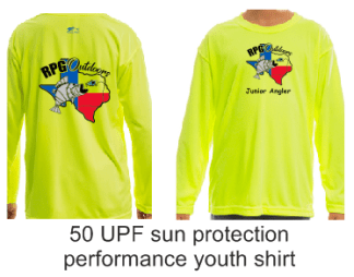 RPG outdoors youth 50 UPF shirt