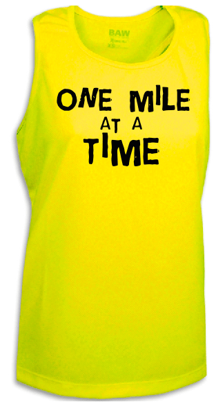 One Mile At a Time Marathon Singlet