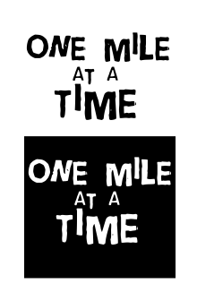 One Mile At a Time Vinyl Decal