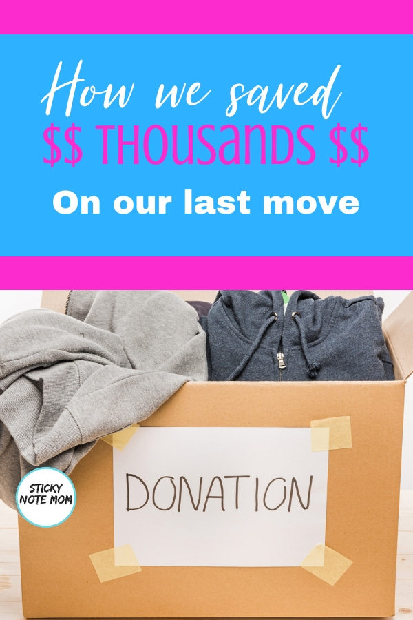 Are you planning a move? These decluttering tips will help save money moving. We saved thousands on our last move by decluttering our home and some printable moving labels for you!