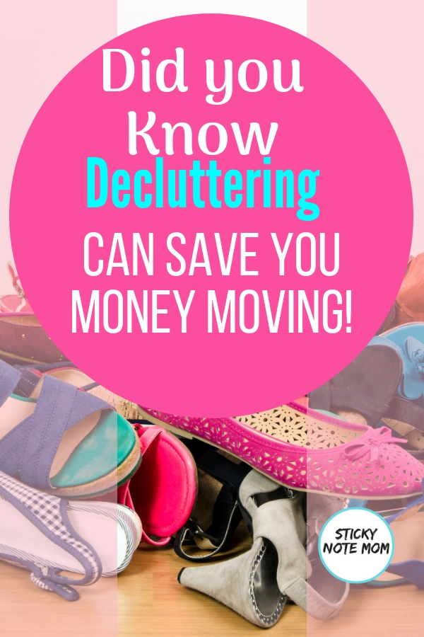 Are you planning a move? Start decluttering to save money moving. We saved thousands on our last move by decluttering our home and some printable moving labels for you!