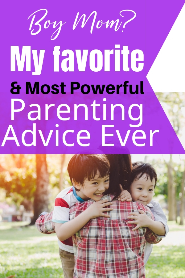 Being a boy mom takes lots of love, and dedication and a small village. These parenting tips and advice will help you raise your boys with purpose. #boymom #parentingboys