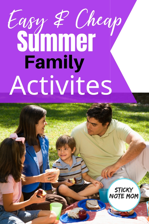 Summer fun is what every family hopes for. If the summer fun is inexpensive, it's a no brainer! This quick list was our go-to for cheap summer activities. Easy and Cheap summer activities for family fun. #familyfun #summer #familyactivities