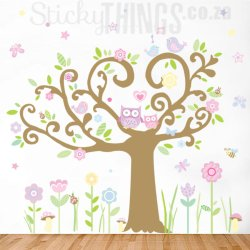 Owl Tree Giant Decal