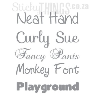 Fonts to choose from (5 of 10)