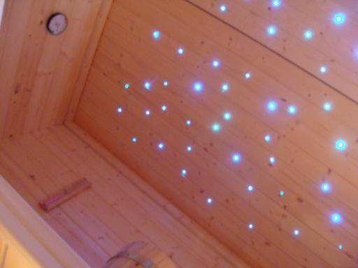 Sauna Sternenhimmel Licht Farbwechsler Glasfaser