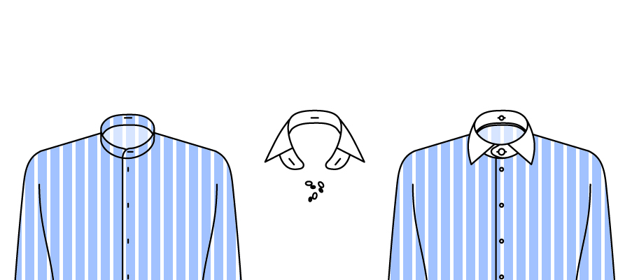Col détaché et chemise col tunique