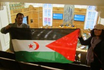 Saharawi flag in Danish parliament