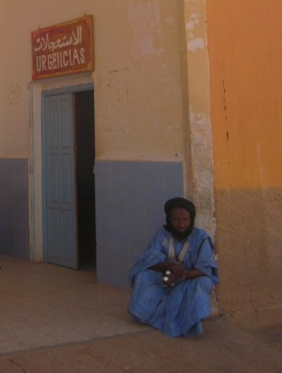 Old man in hispital in Tindouf refugee camps