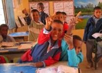 Schoolchildren in Tindouf refugee camps