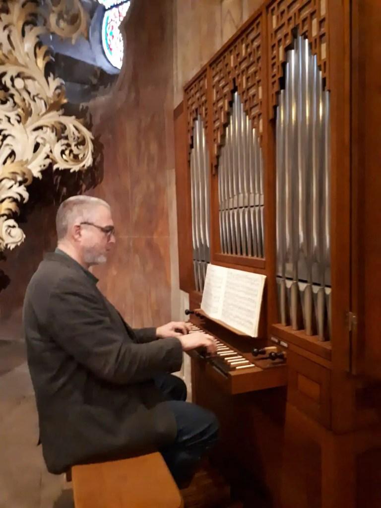 Organist Martin Requardt, Foto Katrin Woitack
