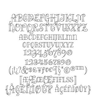 Bazaruto Iron Hand sample character set