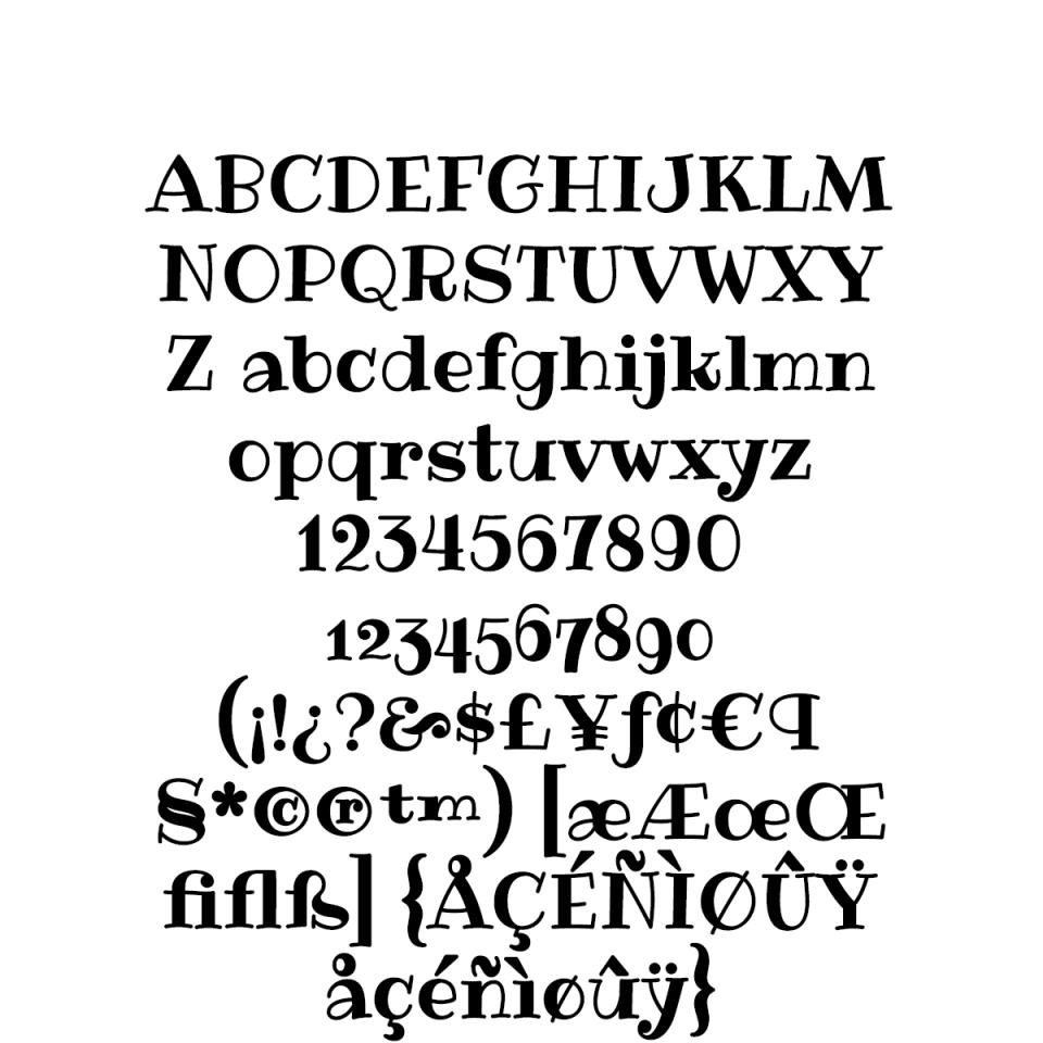Ribeye Pro sample character set