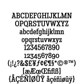 Stint Condensed Pro Medium sample character set