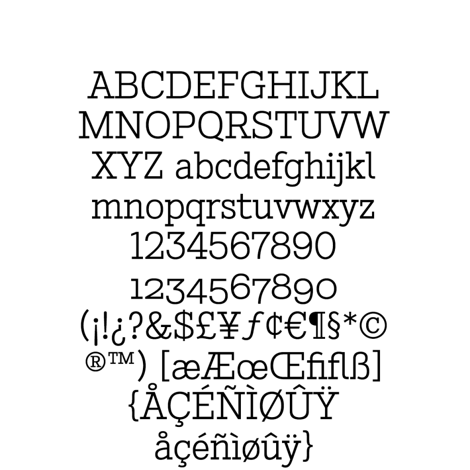 Stint Pro Book sample character set