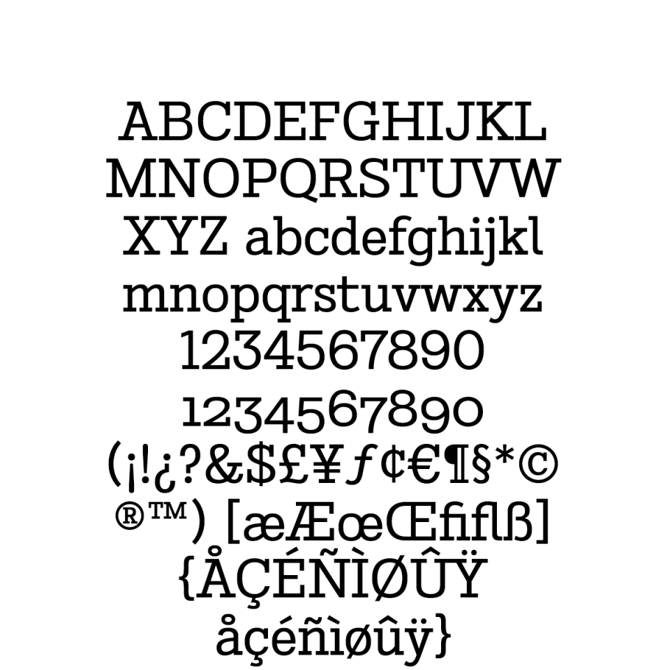 Stint Pro Regular sample character set