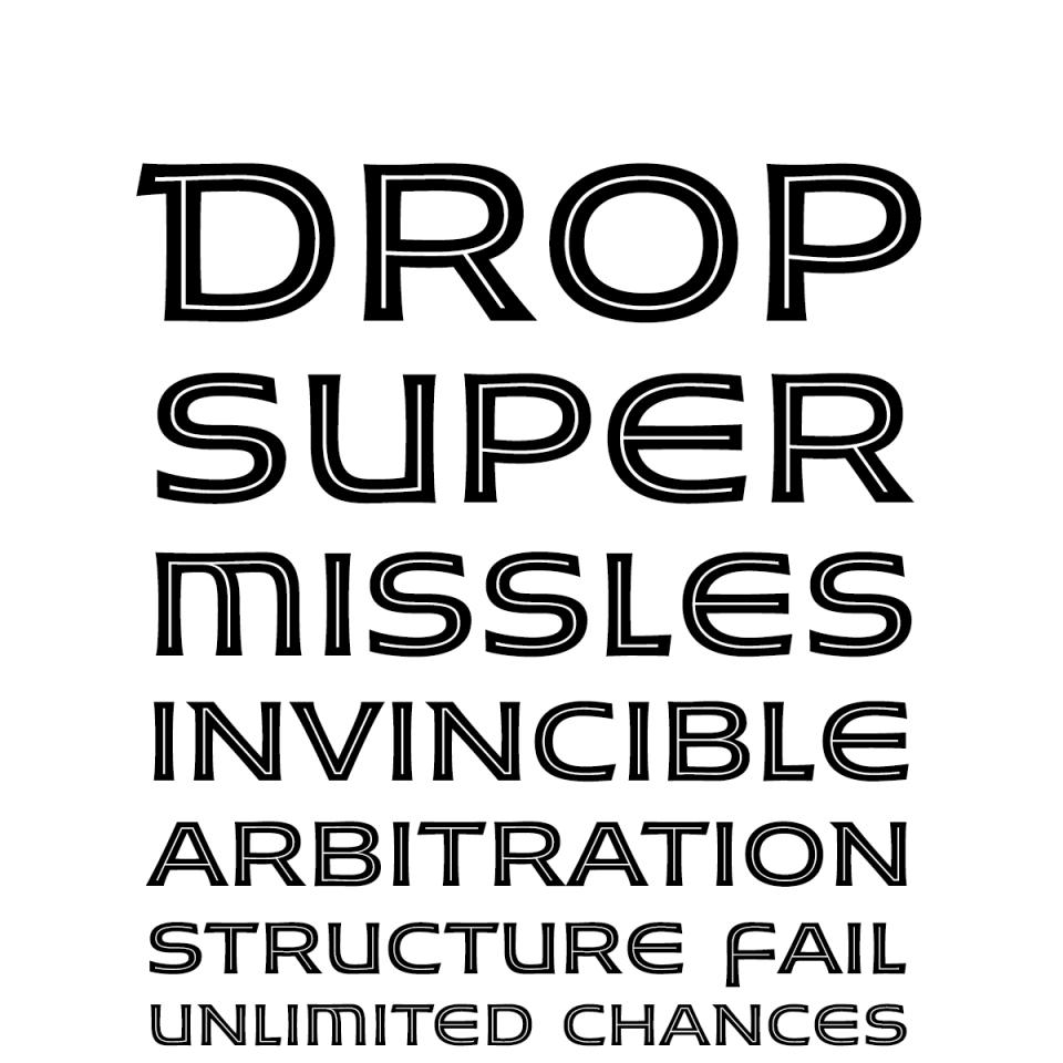 Husk-Inline font waterfall 2