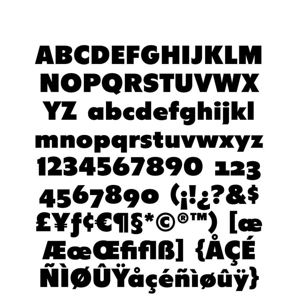 Latitude Sans sample character set
