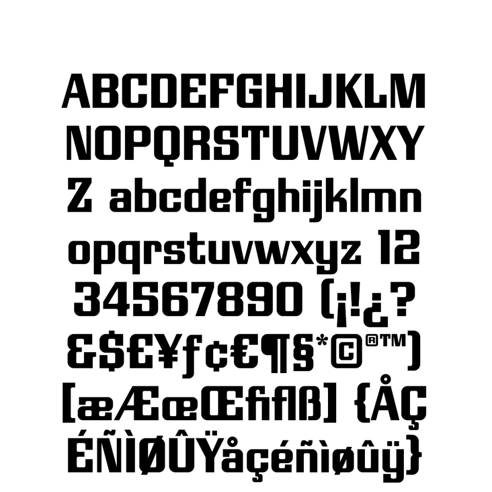 Modulate Regular Character Set sample