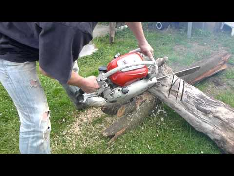 Cold Stihl Contra 1106 av starting