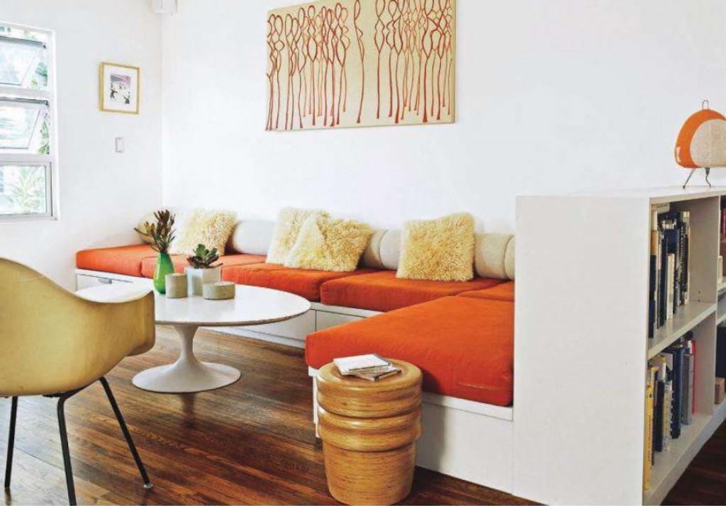 woonkamer interieur ideen met oranje  Stijlarchiefnl