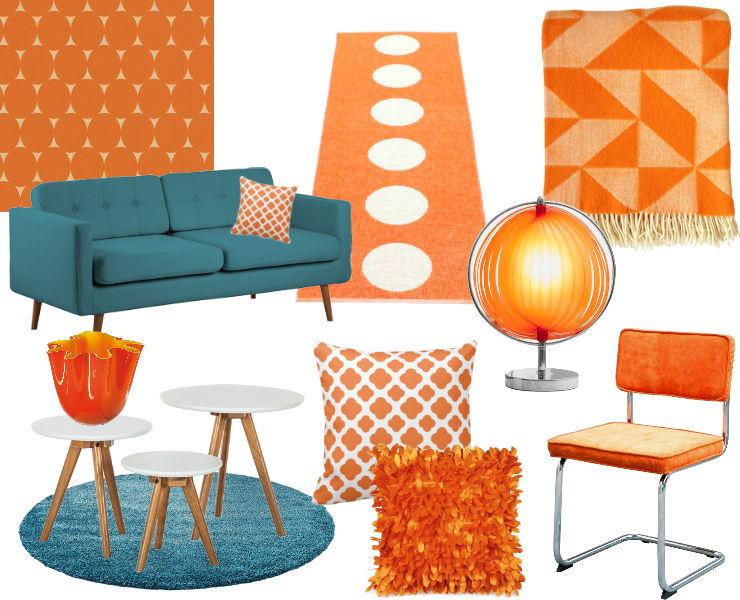 Decoratie Woonkamer Oranje