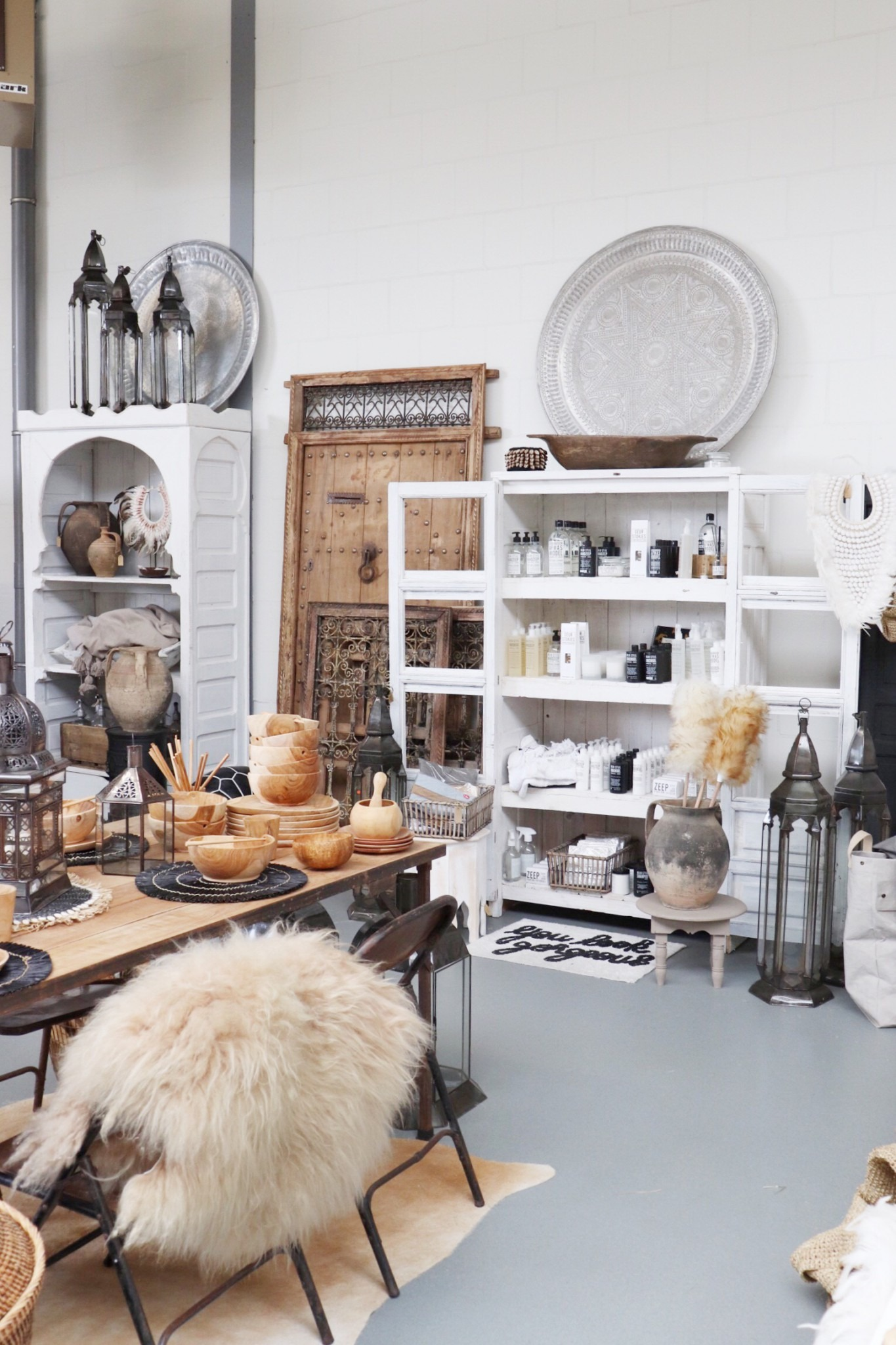 Loods Noa May: interieur winkel Marokko meets Scandinavië