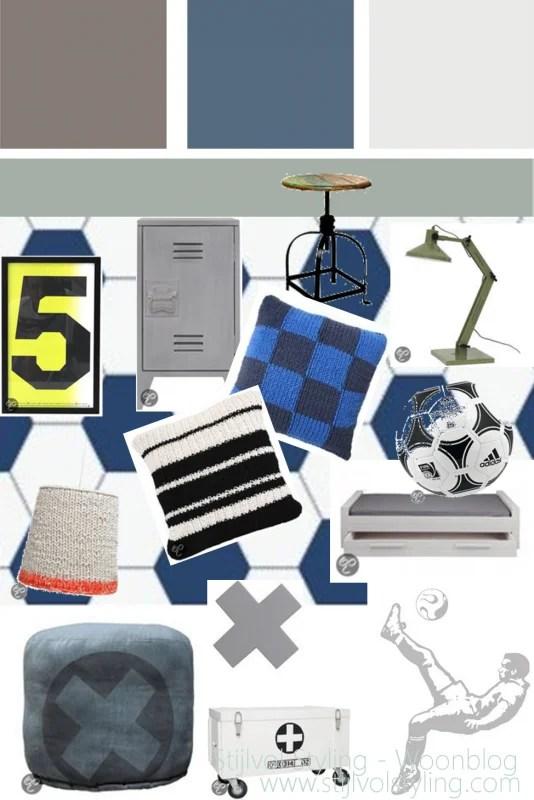 Uitgelezene Interieur   Kinderkamer in stoere voetbal stijl • Stijlvol Styling VJ-27