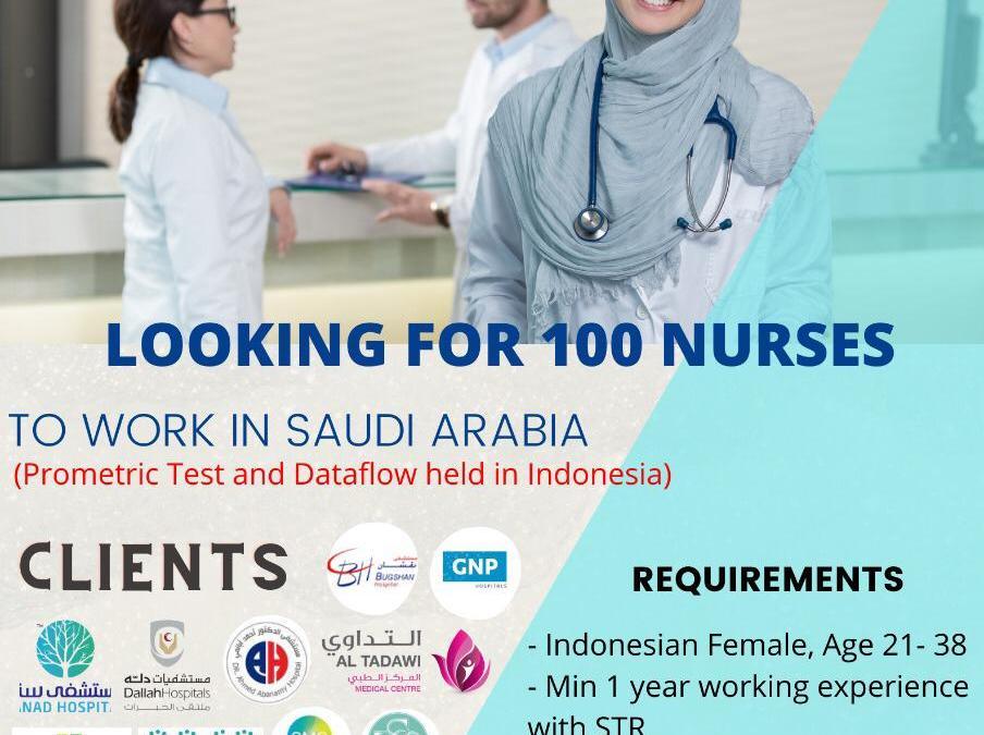 Looking For 100 Nurses!