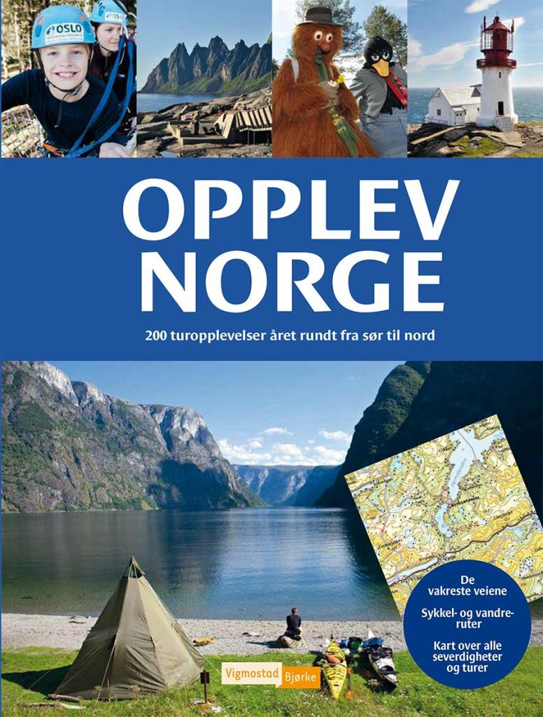 Opplev Norge er en praktisk guidebok med mange tips til aktive og spennende ferieopplevelser for hele familien.