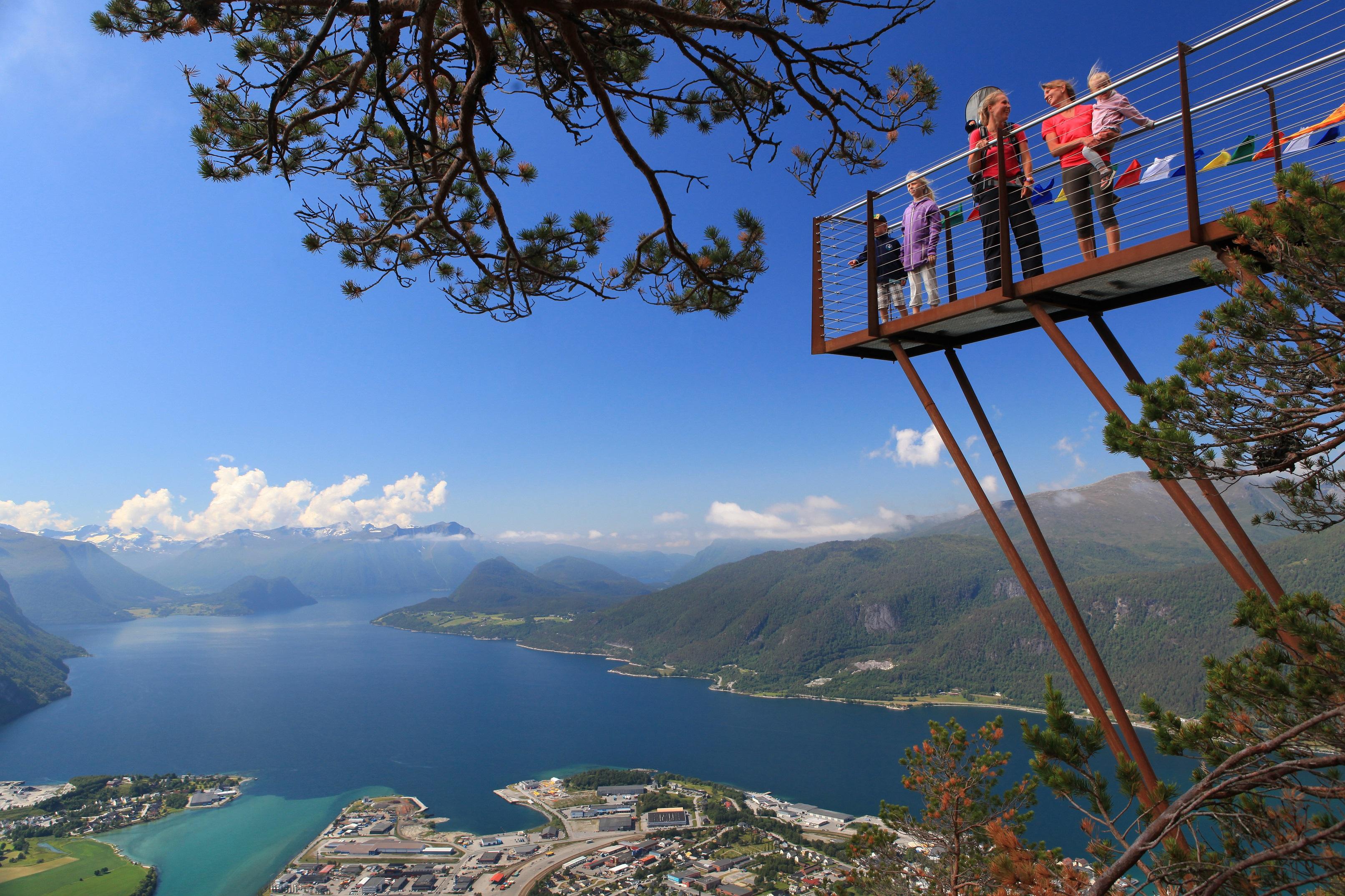 Utsiktsplattform Romsdalen utsikt Åndalsnes