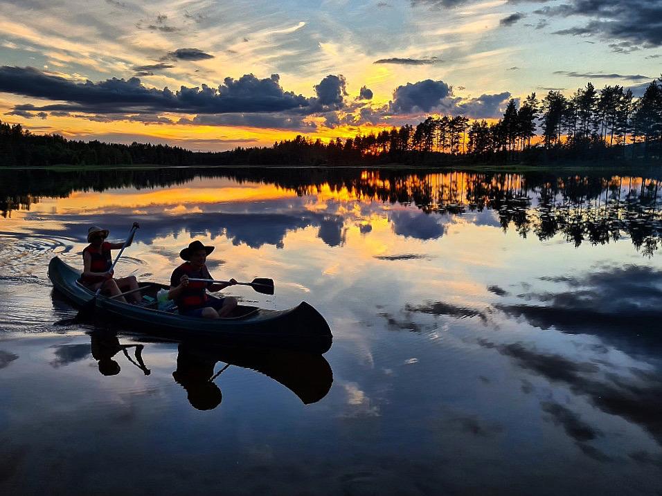 Kano på Kynna Finnskogen
