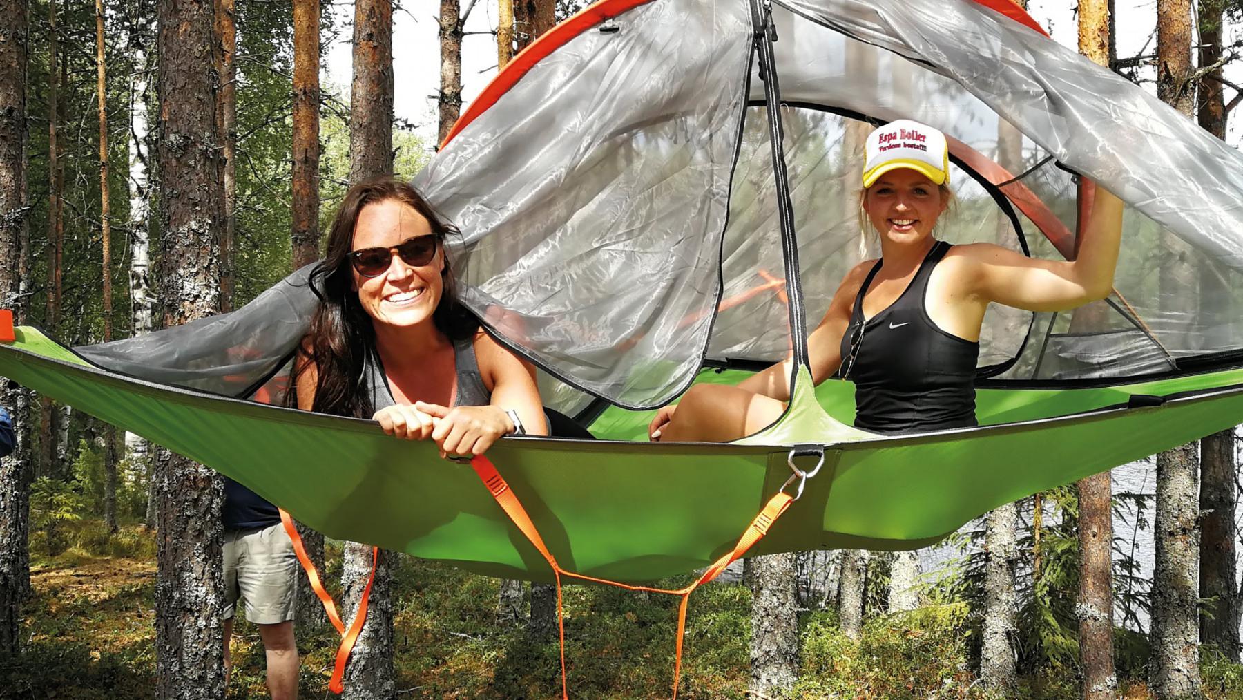 Hengekøye Finnskogen to damer Kynna