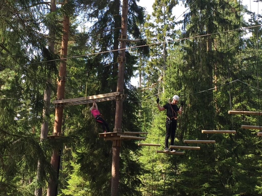 klatrepark på Helgøya i Mjøsa