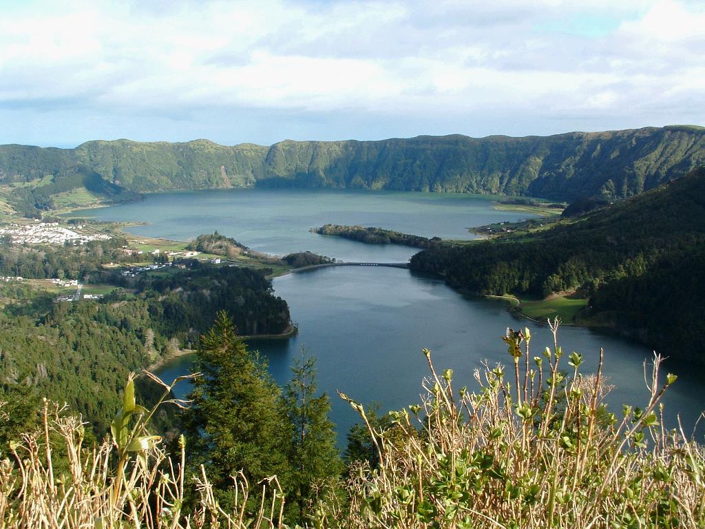 Azorene kratersjø vandre kart