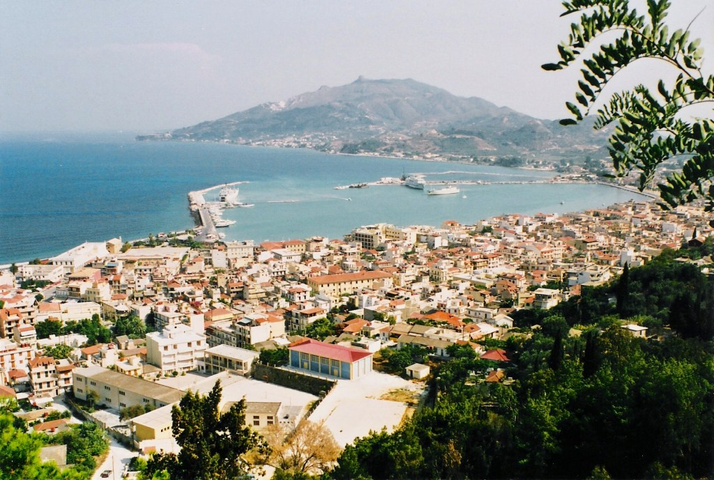 Havn Hellas utsikt Zakynthos