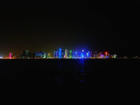 doha noću qatar