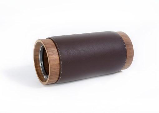 Design Faszienrolle aus Holz und Leder