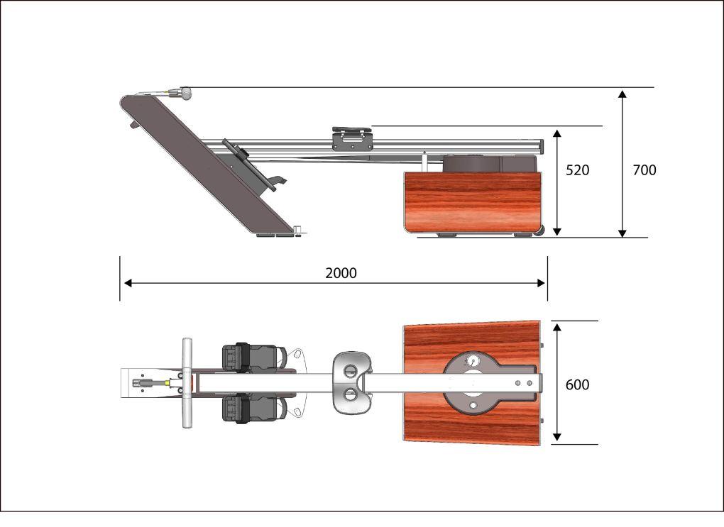 STIL-FIT Rudergerät SFR-015 Abmessungen