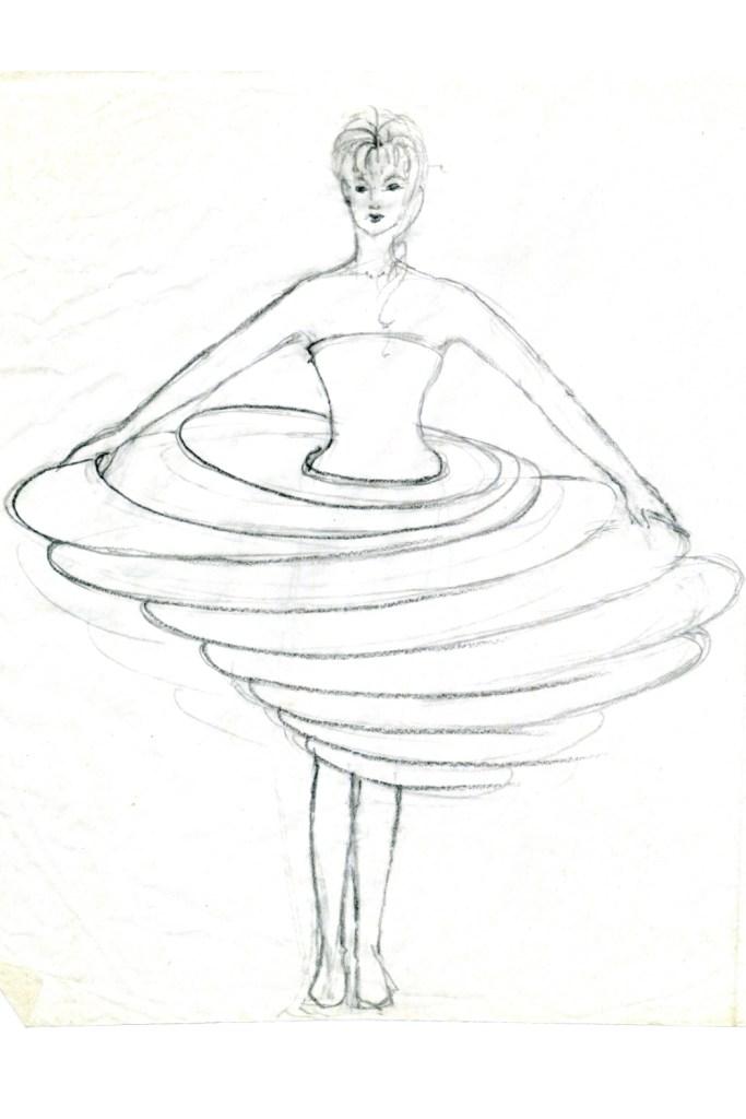 Stil-Stengel Tanzkostüm, experimentell