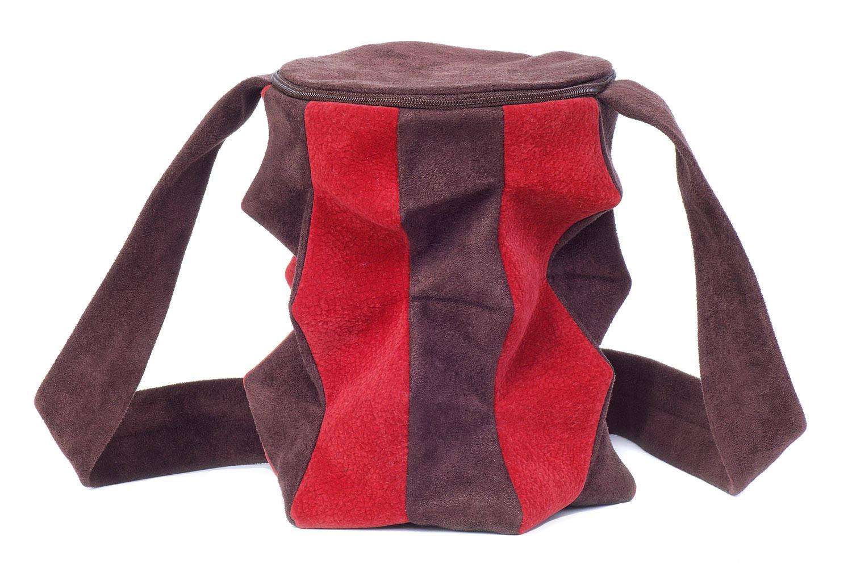 Stil-Stengel Textilkunst Tasche AMPHORE rot braun