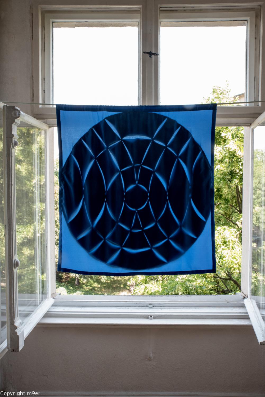 """Stil-Stengel Raumgestaltung, """"Mandala"""", Leinen auf Fahne"""