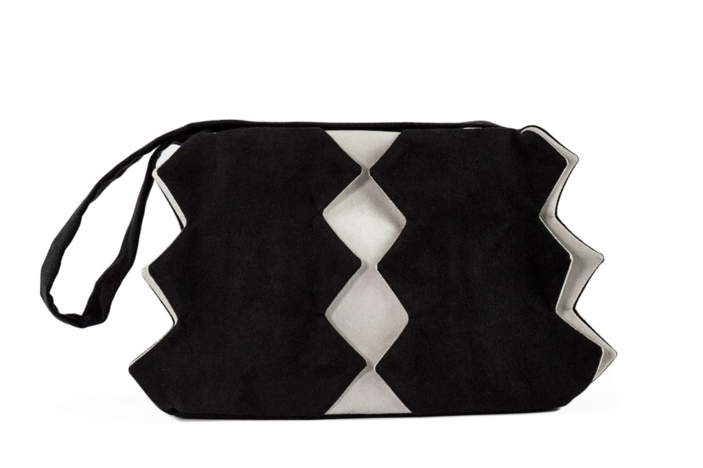 Stil-Stengel Textilkunst Tasche IKONE schwarz weiss
