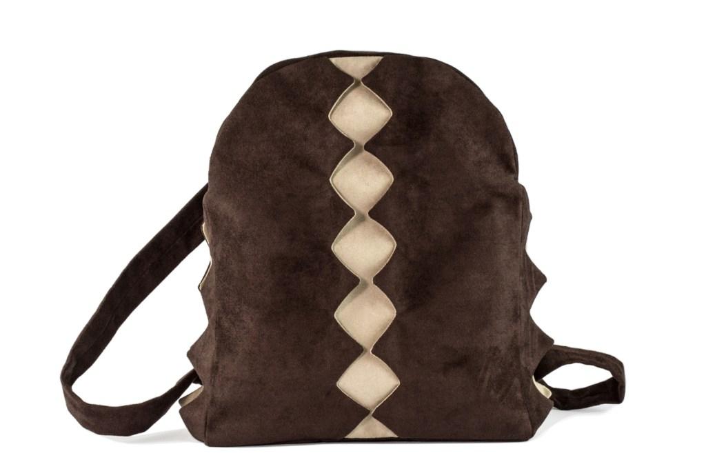 Stil-Stengel Textilkunst Tasche SPLIT braun beige