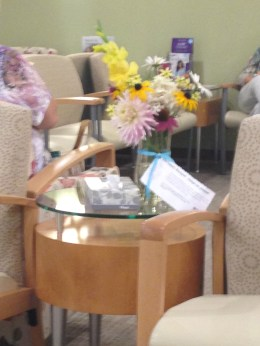 Left a bouquet in my oncologist's office for someone to find and adopt.