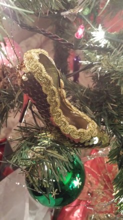 German glass, tinsel, ornaments, Christmas, stiletto, gold, sequins